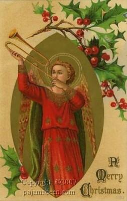 Christmas-medieval-angel-blowing-horn