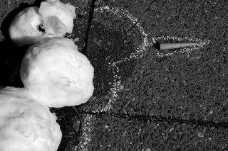 Snowman outline